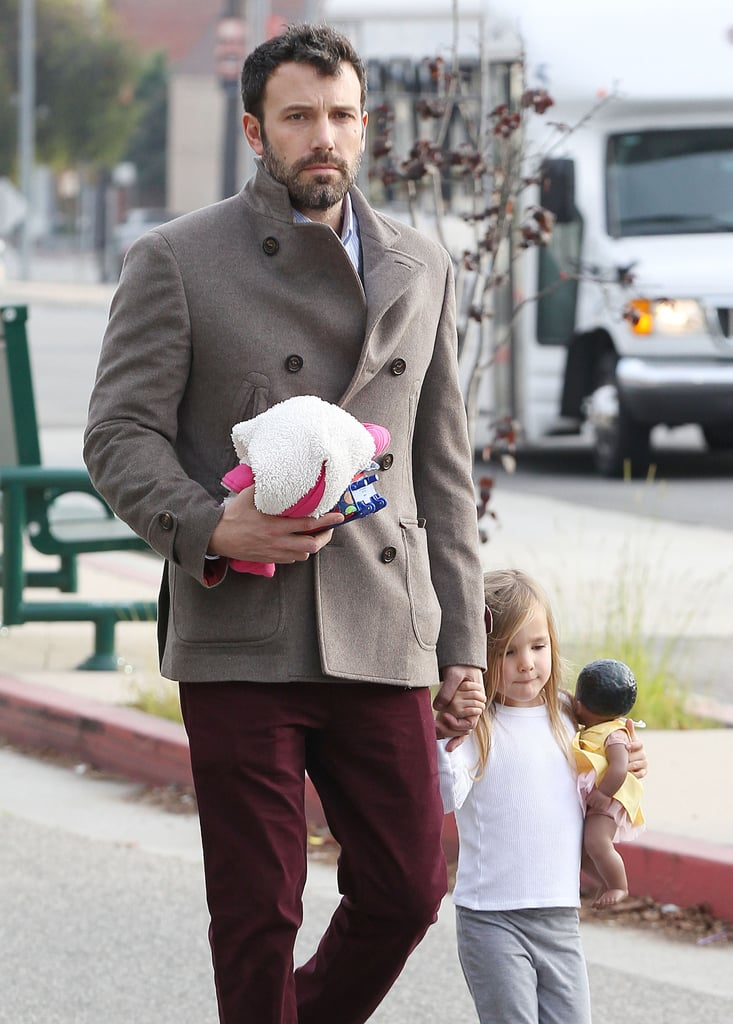 Ben Affleck held hands with daughter Seraphina in LA.