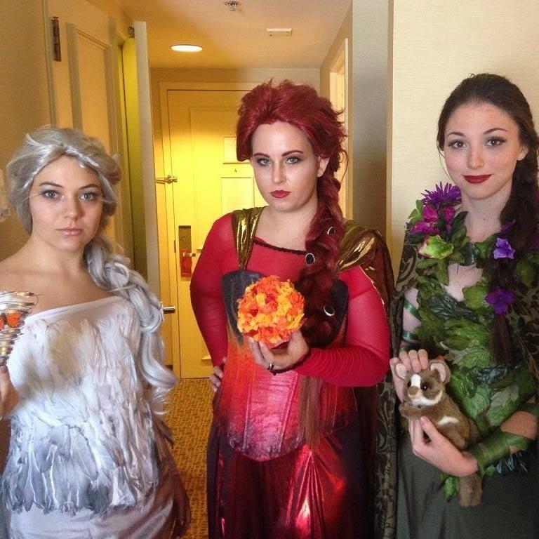 Air Elsa, Fire Elsa, and Earth Elsa