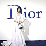 Wearing a White Dior Gown With a Matching Blazer
