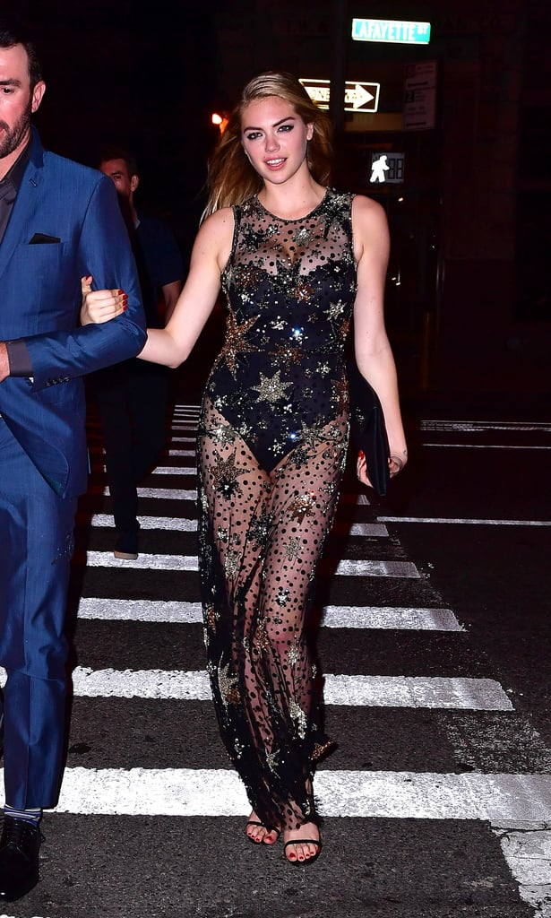 Kate Upton Bared a Bit of Her Birthday Suit in Her Sexy, Sheer Party Dress