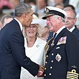 The president and Prince Charles also displayed their close relationship at the event.