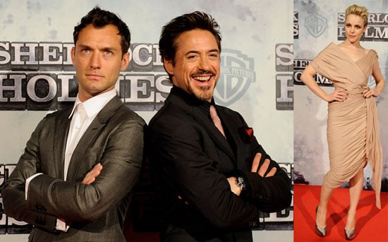 Photo of Robert Downey Jr., Jude Law, and Rachel McAdams at the Spain Premiere of Sherlock Holmes