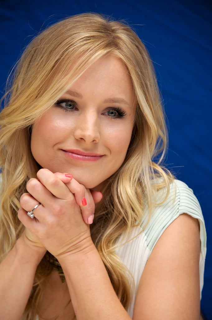 Kristen Bell Tattoos Under Chin: While Her Hair And Makeup Were Beautiful At A Press