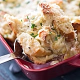 Artichoke Lemon Savory Bread Pudding