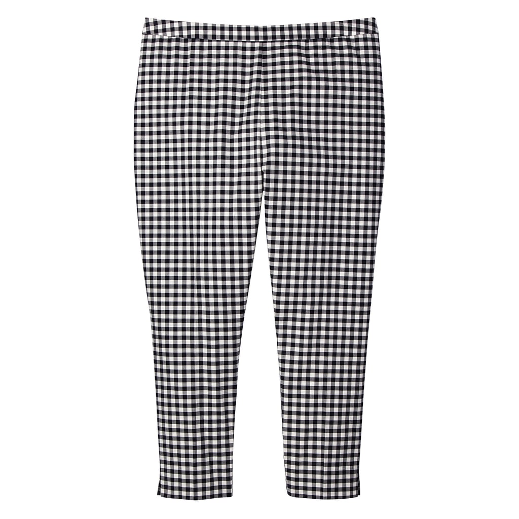 Women's Plus Blue and White Gingham Twill Pants ($30)