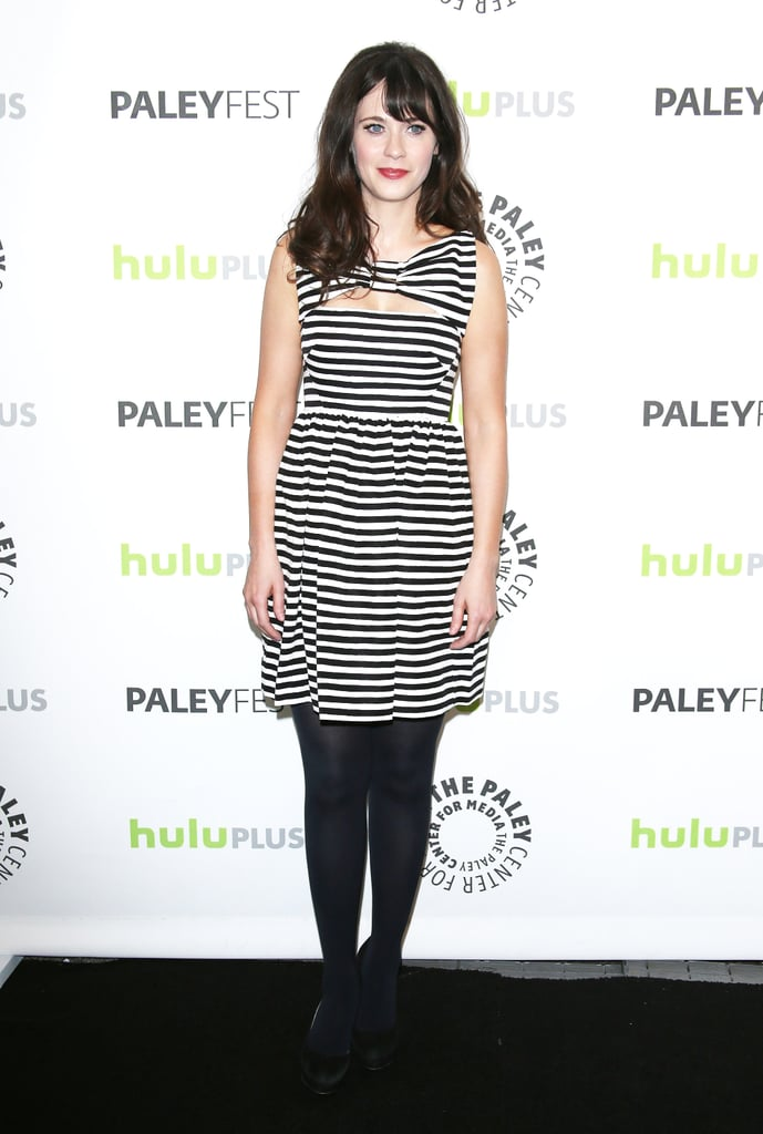Zooey Deschanel attended PaleyFest 2013 in LA.