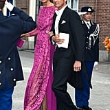 Prince Maurits of the Netherlands and Marie-Helene Angela van den Broek made a dashing pair.