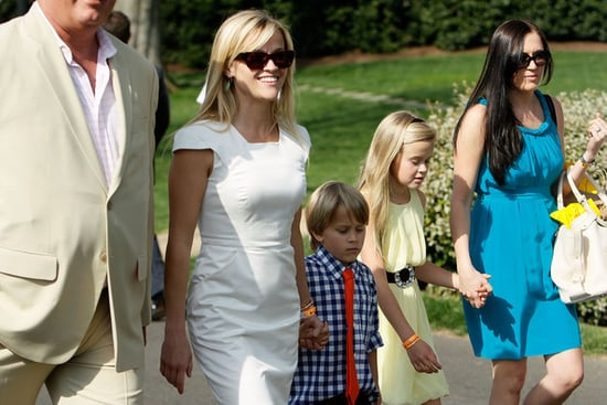 Reese Witherspoon was spotted taking her daughter Ava and son Deacon to the White House Easter Egg Roll today (April 5)