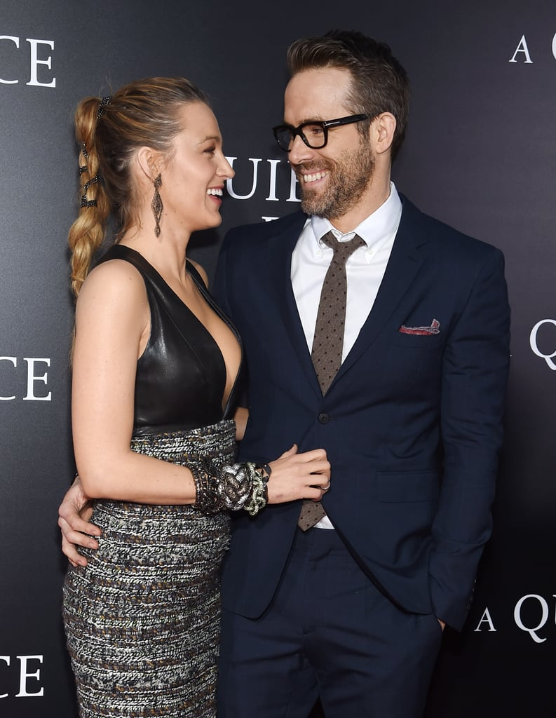 "Blake Lively and Ryan Reynolds finally popped up on a red carpet together last month after keeping us waiting for almost a year, and on Monday, they were back at it again. The picture-perfect couple stepped out to support pals John Krasinski and Emily Blunt at the NYC premiere of A Quiet Place. Blake and Ryan dressed to the nines and were such a sight for sore eyes that Ryan even had to wear glasses on the red carpet. OK, that's probably not the reason he wore them, but doesn't he look good? Over the weekend, a report from the International Business Times India surfaced claiming that Ryan and Blake were struggling to spend quality time with each other. Fortunately, the publication tagged Ryan and he had the best response. ""I wish. I could use a little 'me' time,"" he tweeted. Judging from these photos, Blake and Ryan are doing just fine."