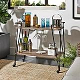 HomeSullivan Arnold Dark Bronze Bar Cart With Wine Glass Storage