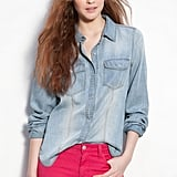 """So what are some quintessential Kate Bosworth pieces? """"A denim shirt. It's a classic piece I really love,"""" the actress and designer told us.   Trouvé faded denim shirt ($88)"""