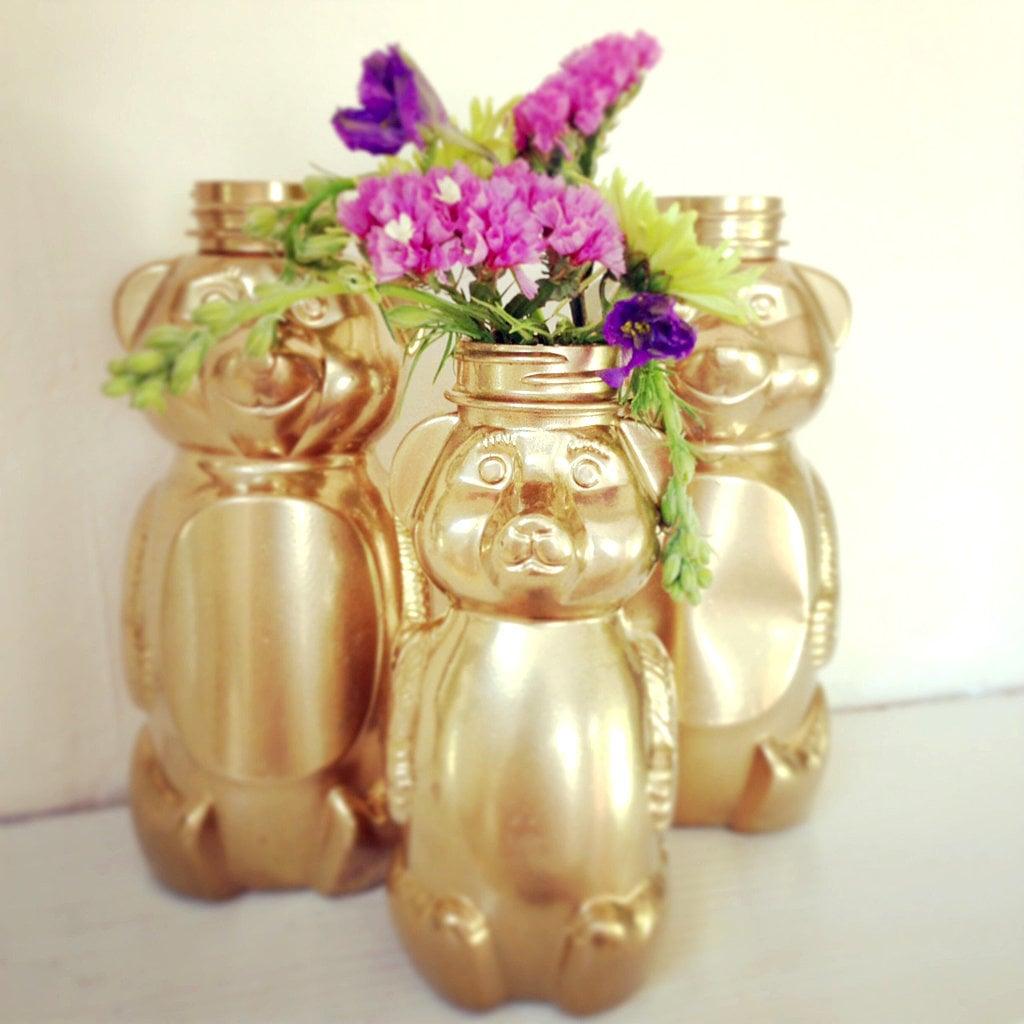 DIY Gilded Honey Bears