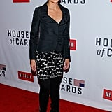 Soledad O'Brien attended the premiere of House of Cards in NYC.
