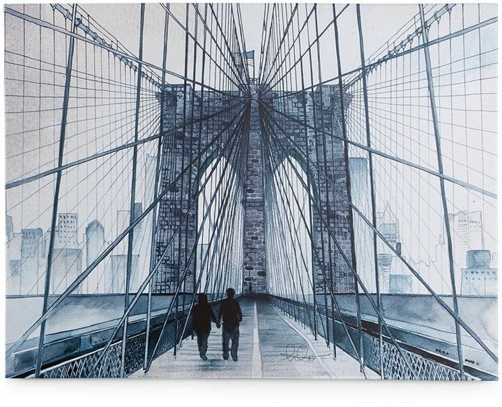 Graham & Brown Canvas Dreaming in Watercolor, NYC Wall Art ($108)
