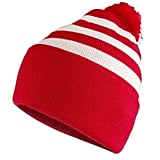 Add a red and white beanie ($15).