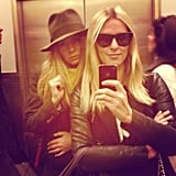 Nicky Hilton had some girl time with Bijou Phillips at Bergdorf's. Source: Instagram user nickyhilton