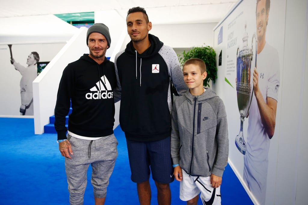 david and romeo beckham at aegon championships 2016 popsugar celebrity photo 3. Black Bedroom Furniture Sets. Home Design Ideas