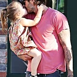 David and Harper Beckham were one adorable duo this year, and their caught-on-camera kiss was the sweetest!
