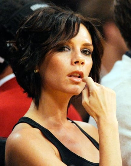 Victoria Beckham and family at a Lakers game