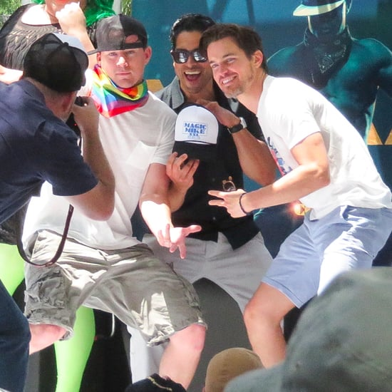 Channing Tatum at LA Gay Pride Parade 2015