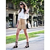 Feel more comfortable in a wedge than a block heel? Zina Charkoplia's Chloé shoes look just as cool from the side . . .