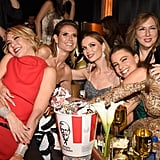 Sofia Vergara With Her Hand in a Bucket of KFC Chicken at the Netflix Afterparty
