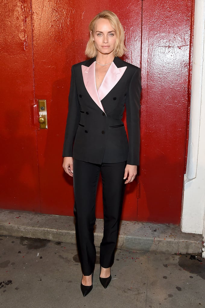 Amber Valletta at the Tom Ford New York Fashion Week Show