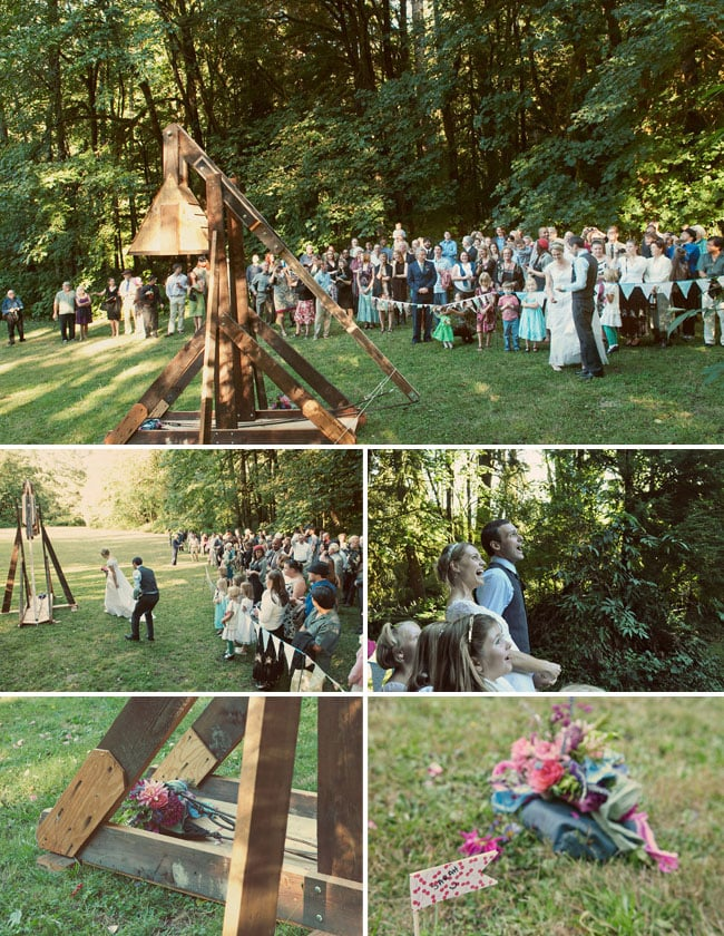Bouquet Catapult in the Woods