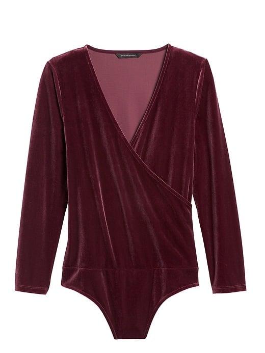 Velvet Wrap Thong Bodysuit
