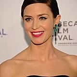 Emily Blunt wore pink lips to the Five-Year Engagement premiere during the 2012 Tribeca Film Festival.