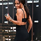 Jada Pinkett Smith struck a sexy pose at the Gotham zip line event on Saturday.