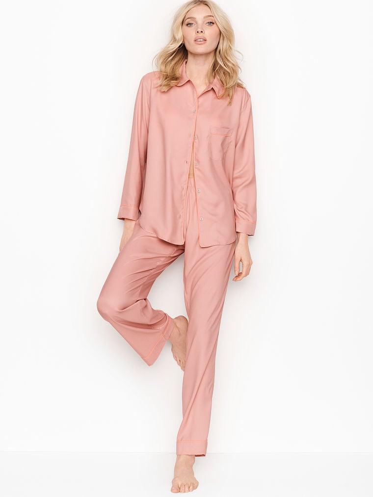 Selena Secrets Selena SST-UK Ladies Satin PJ Print Pyjama Set