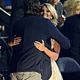 Mike gave Carrie a sweet hug at the 2013 CMT Music Awards in Nashville.