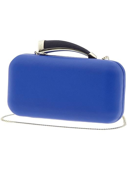 A Summer wedding or night out is the perfect place to have fun with your colors. Give the overused but goes-with-everything black clutch the night off and try something bolder instead. Try this horn-handled Vince Camuto style ($158) to add a bright punch.