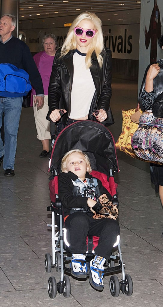 Gwen Stefani was with her son Zuma in London.