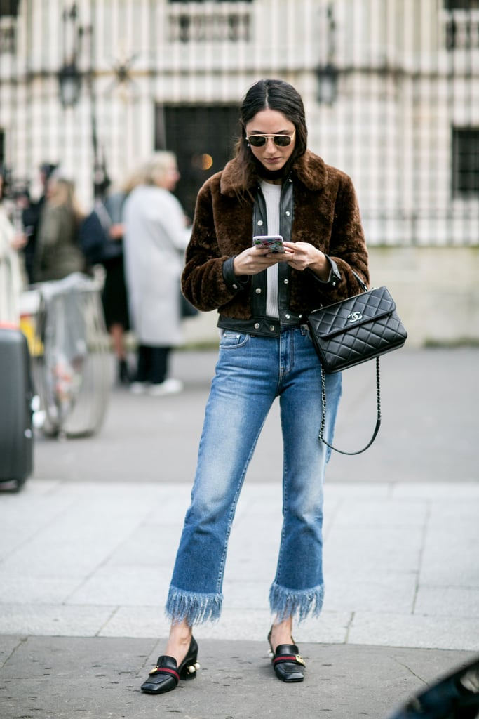 Reinvent Distressed Jeans With Polished Add Ons Styling Hacks From Fashion Week Street Style