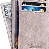 Travelambo Front Pocket Minimalist Leather Slim Wallet