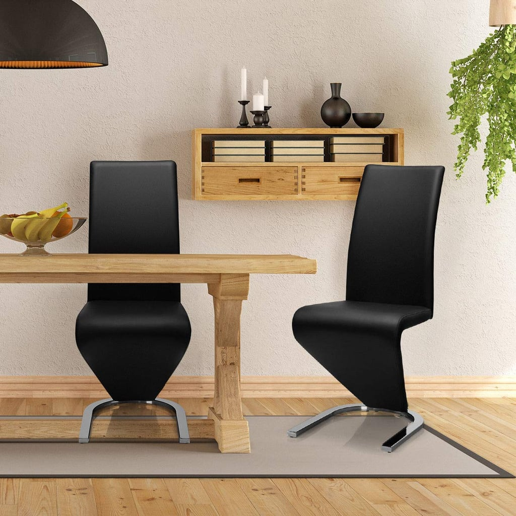 Giantex Set of 2 Modern Dining Chairs w/High Back