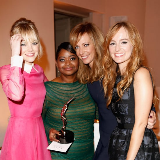 Emma reunited with her The Help co-stars Octavia Spencer, Allison Janney and Ahna O'Reilly at the 2012 Elle Women in Hollywood Awards.