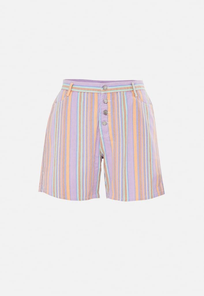 Missguided Purple Stripe Co Ord Denim Shorts