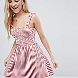 ASOS Ruffle Strap Shirred Sundress