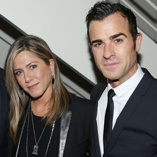 Jennifer Aniston and Justin Theroux at Details Party