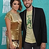 Nikki Reed smiled with Paul McDonald on the red carpet at the MTV Movie Awards.
