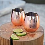 Urban Outfitters Copper Stemless Glasses Set