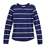 Printed Long Sleeve Tee in Blueprint Weekender Stripe