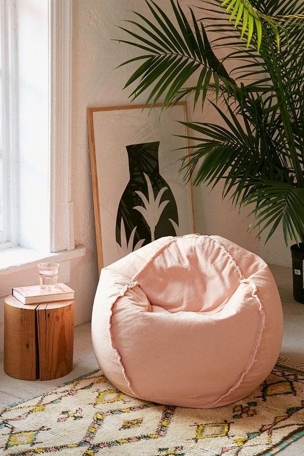 Exposed Seam Bean Bag Chair