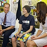 Will and Kate talk with a patient.