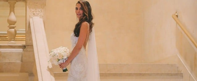 This Jewish Bride's Wedding Dress Was Just as Extravagant as the Matching Chuppah