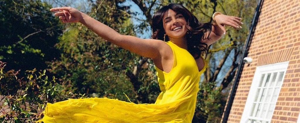 Priyanka Chopra's Yellow Emilio Pucci Dress on Instagram