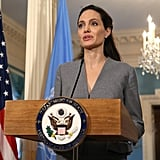 Angelina Jolie at U.S. State Department on World Refugee Day